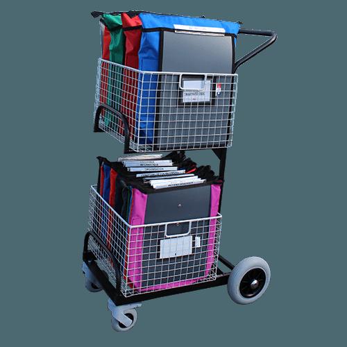 Chariot de distribution compact 2 corbeilles - 6328/6329