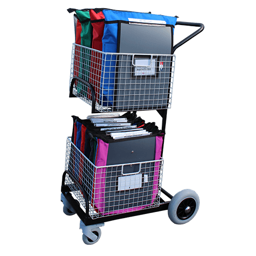 Chariot de distribution compact 2 corbeilles - 6328