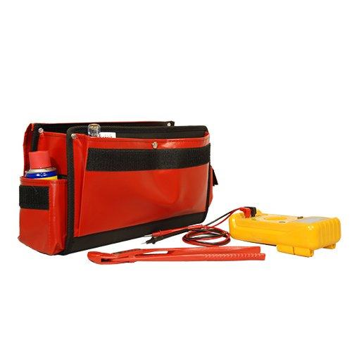 Sac CO3 Rouge ouvert avec outils