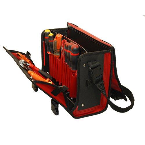 Sac à Outils CO6 Rouge ouvert avec outils