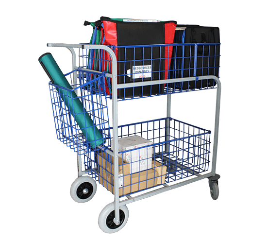 Chariot de distribution grande capacité 2 corbeilles - 3809 MT5