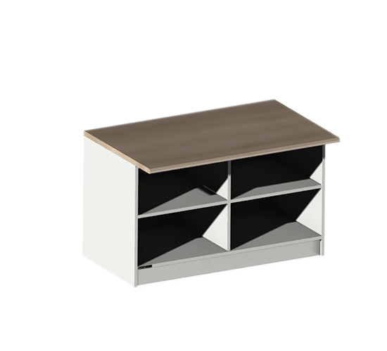 Support pour meuble de 20 cases