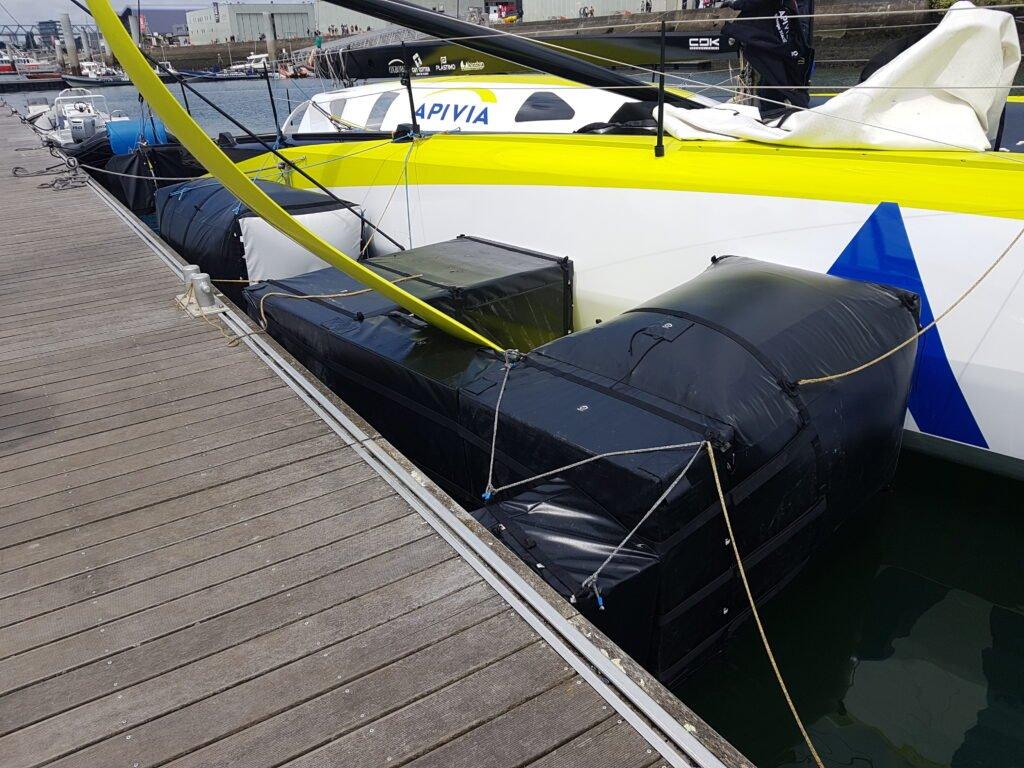 Pare-battages sur mesure pour bateaux de course au large