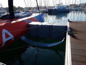 Pare-Battage pour bateaux de course au large équipé de foil. Réalisation sur-mesure par Outils Océans