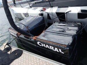 Pare-battage pour bateaux de course au large équipé de foils. Réalisation sur-mesure par Outils Océans.
